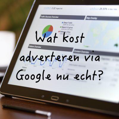 wat kost adverteren op google